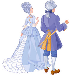 gentleman and lady vector image vector image