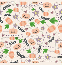 halloween seamless pattern vintage vector image vector image