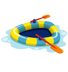 Inflatable boat vector image