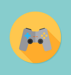 Joystick flat icon with long shadow eps10 vector