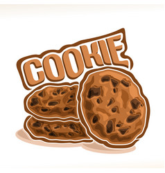 Logo for homemade cookie vector