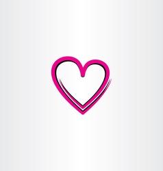 love heart icon design vector image vector image