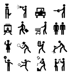 people pictogram vector image