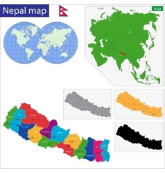 Republic of nepal vector