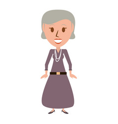 Retro old woman cartoon vector