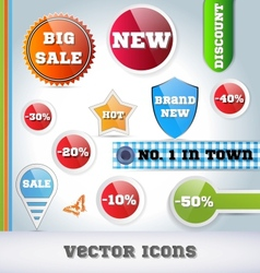 Sale Icon Set vector image vector image