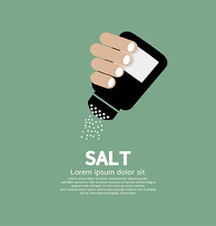 Salt Bottle In Hand vector image vector image