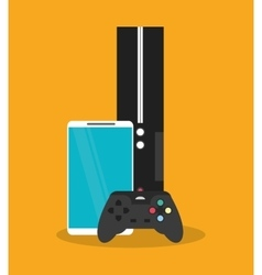 Smartphone and videogame design vector