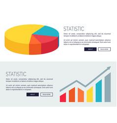 statistic demonstration design for web page vector image vector image