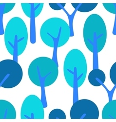 Stylized cartoon tree forest seamless pattern vector image vector image