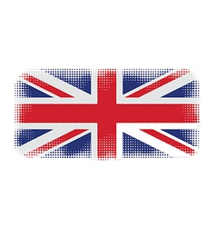 uk flag halftone vector image