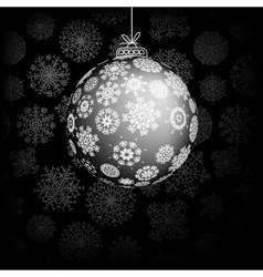 Vintage card with Christmas ball EPS8 vector image vector image