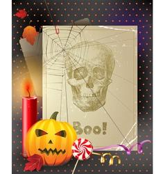 vintage halloween vector image