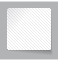 White paper sticker vector image