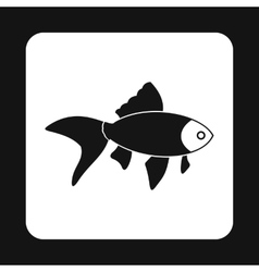 Goldfish icon simple style vector