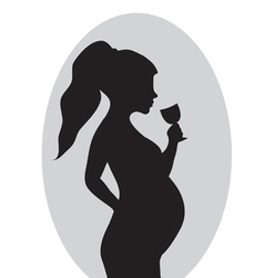 Pregnancy no drinking alcohol red prohibition vector