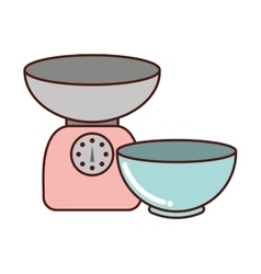 kitchen equipment utencils icon vector image
