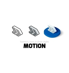 Motion icon in different style vector