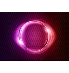 abstract round on black purple vector image