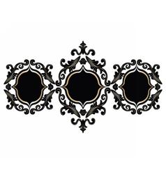 Baroque rococo frame set decor vector