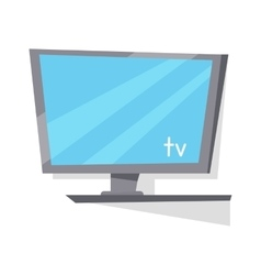 Lcd tv monitor with blank screen vector