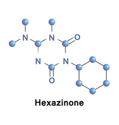 Hexazinone broad spectrum herbicide vector
