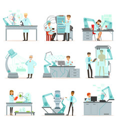 artificial intelligence new technologies set vector image