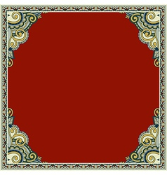 Ornamental floral vintage frame design vector