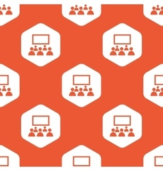 Orange hexagon audience pattern vector