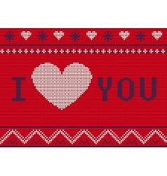 St valentines ugly sweater a vector