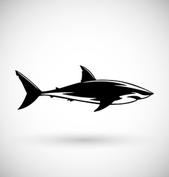Great white shark sign logo on a white background vector