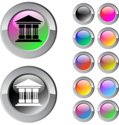 Exchange multicolor round button vector