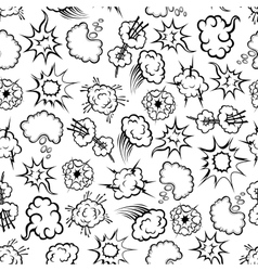 Comics explosion speech bubbles seamless pattern vector