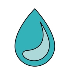 Water drop isolated icon design vector