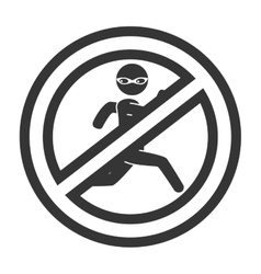 Prohibited thieft security icon vector