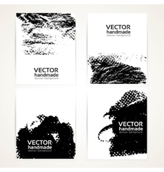 Abstract black and white brush texture hand vector image vector image
