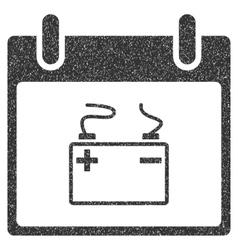 Accumulator Calendar Day Grainy Texture Icon vector image vector image