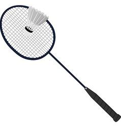 Badminton racket and shuttlecock vector image vector image