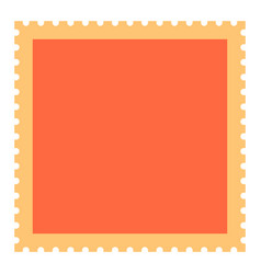 Blank square postage stamp vector