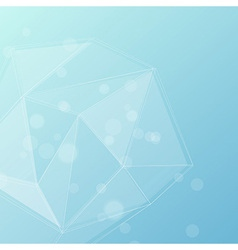 Blue crystal structure editable background vector image vector image