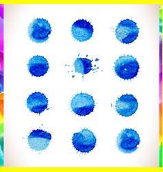 blue watercolor background blue watercolo vector image