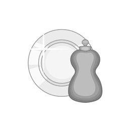 Bottle for dishwashing icon monochrome style vector