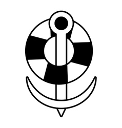 buoy anchor nautical travel maritime line vector image vector image