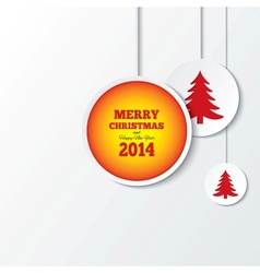 Christmas balls with christmas trees New year vector image