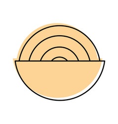 dish with delicious spaghetti isolated icon vector image