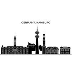 germany hamburg architecture city skyline vector image
