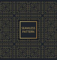 Golden seamless pattern on black background vector