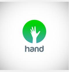 Hand icon logo vector