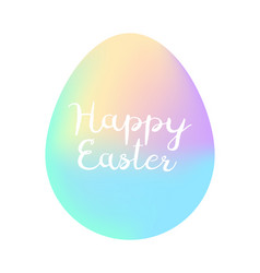 happy easter minimalism poster vector image