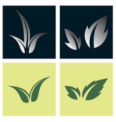 Leaves icon set isolated on background various vector
